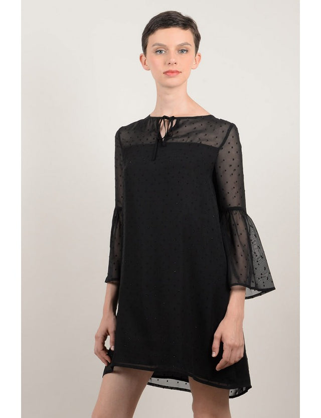 Premium Black Woven Dress