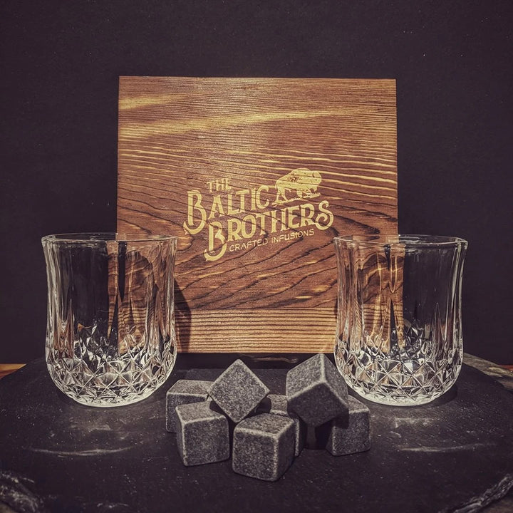 Whiskey Glass + Stone Set