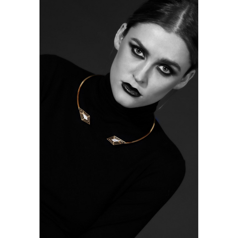 Image of Hana Gold Day Collar - Day Collar - BDSM Collar Store