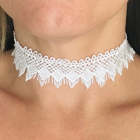 White Lace Day Collar - Day Collar - BDSM Collar Store
