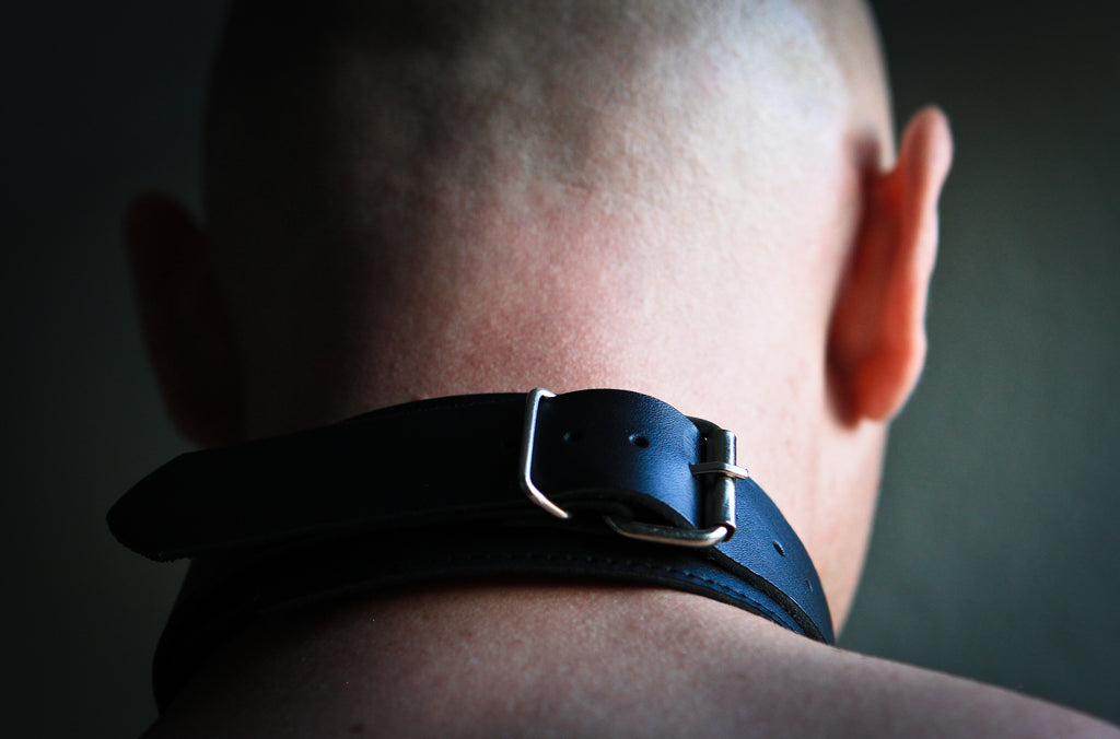 Genuine Lightweight Black Leather Collar, Lined, D-Ring, 1.5 Inch - Collar - BDSM Collar Store