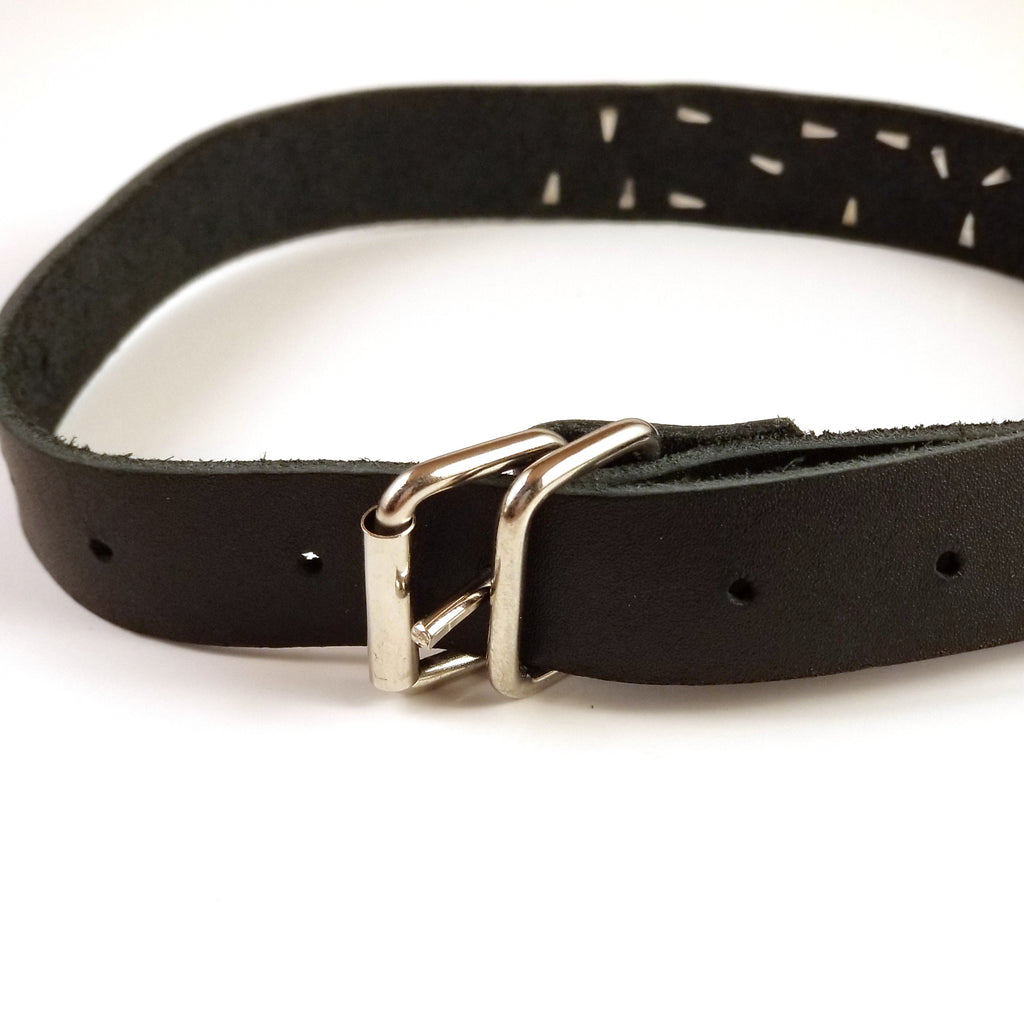 Genuine Leather ID Collar, Master, Slave, Submissive, Kitten, etc - Collar - BDSM Collar Store