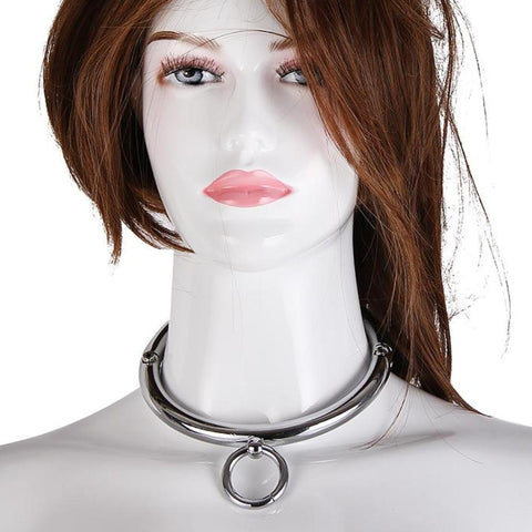 Image of Circle Collar, Polished Stainless Steel, Round Edges - Collar - BDSM Collar Store