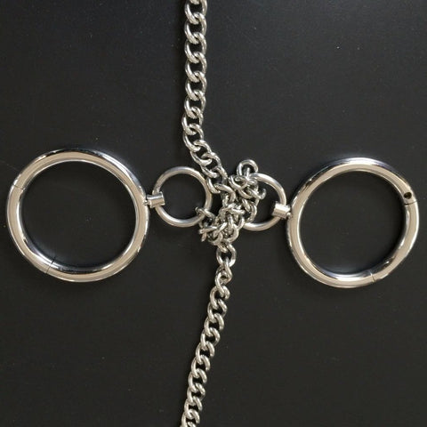 Collar and Wrist Cuffs with Chains and Optional Ankle Cuffs Stainless Steel - Cuffs - BDSM Collar Store