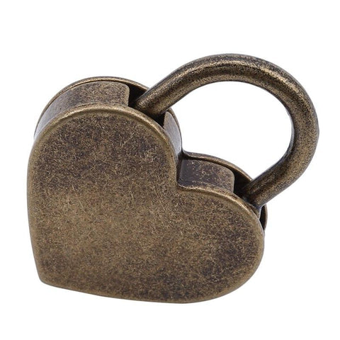 Image of Vintage-Style Locks Heart or Round - Accessories - BDSM Collar Store