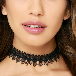 Black Lace Day Collar - Day Collar - BDSM Collar Store
