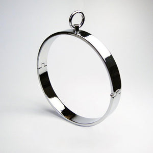 Infinity Band Collar, Polished Stainless Steel