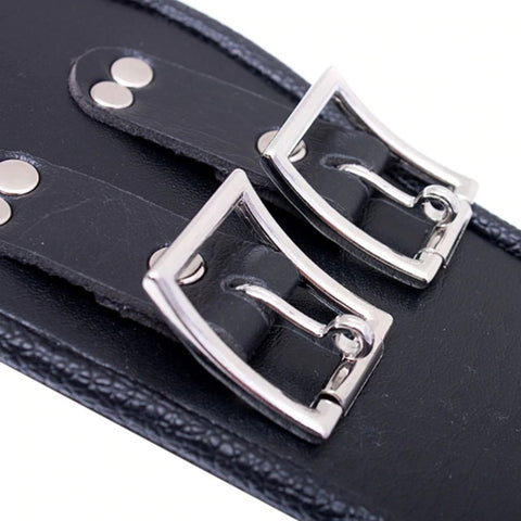 Posture Collar, Locking, Soft Vegan Leather - Collar - BDSM Collar Store