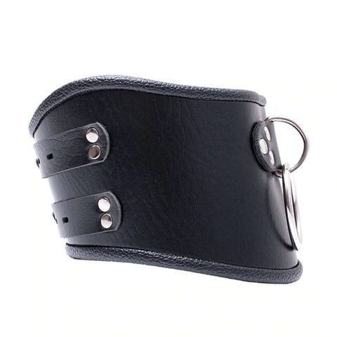 Image of Posture Collar, Locking, Soft Vegan Leather - Collar - BDSM Collar Store