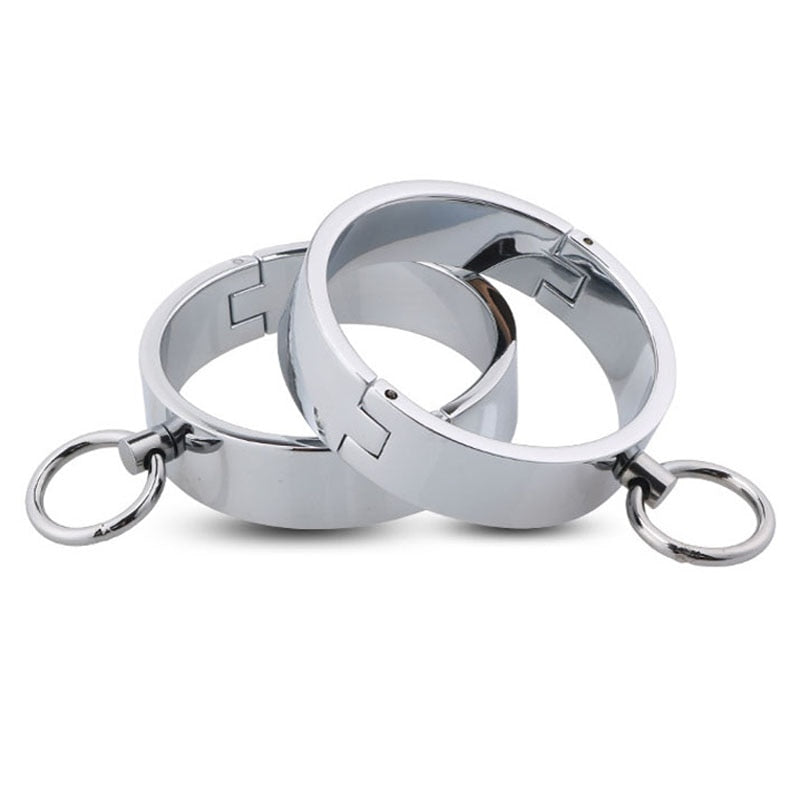 Steel Ankle Cuffs Leg Shackles - Cuffs - BDSM Collar Store