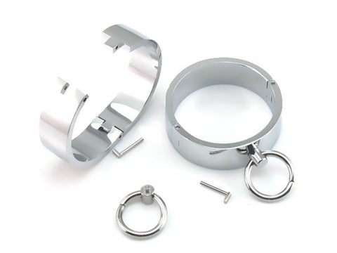 Image of Steel Ankle Cuffs Leg Shackles - Cuffs - BDSM Collar Store