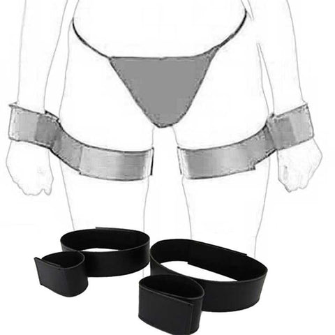 Leg Straps Nylon Ankle-Wrist and Thigh-Wrist - Cuffs - BDSM Collar Store