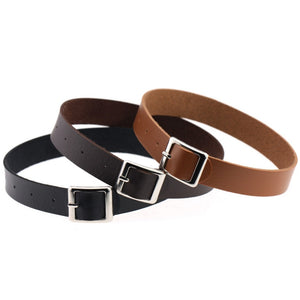 Belt Buckle Vegan Leather Day Collar 11 Colors