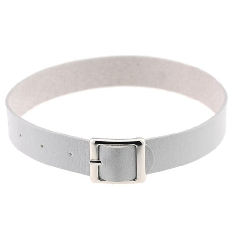 Image of Belt Buckle Vegan Leather Day Collar 11 Colors - Day Collar - BDSM Collar Store