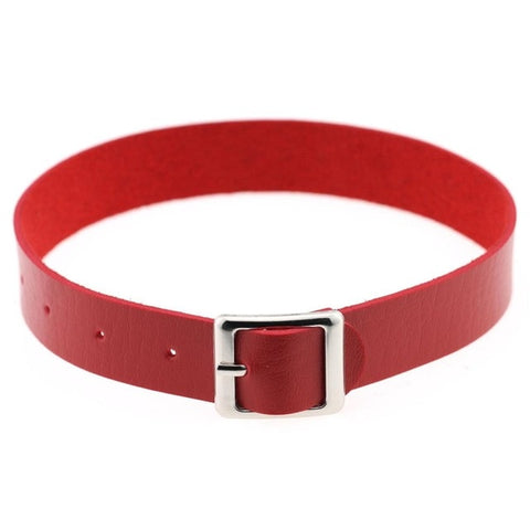 Belt Buckle Vegan Leather Day Collar 11 Colors - BDSM Collar Store