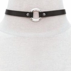 Image of Vegan Leather Eternity Ring Day Collar 2 Pack Gold Silver - Day Collar - BDSM Collar Store