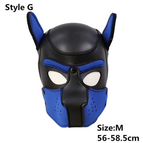 Image of Puppy Mask, Neoprene, Pet Play Hood 10 Colors Available - Hood - BDSM Collar Store