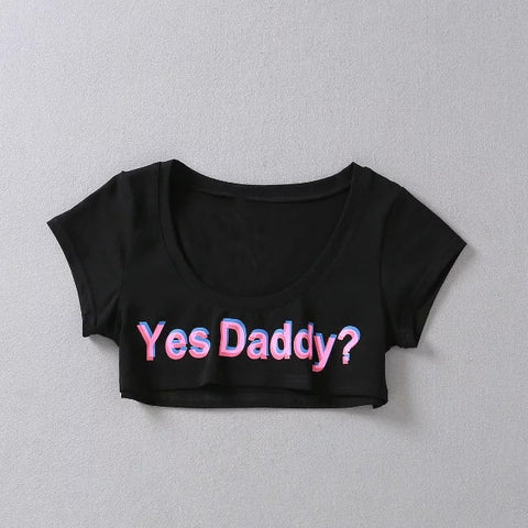 Image of Yes Daddy? Short Crop Top - Clothing - BDSM Collar Store