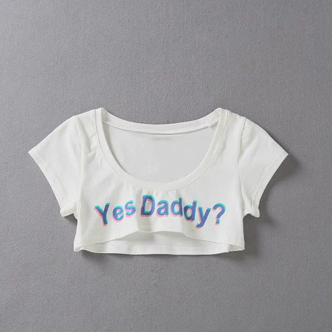 Yes Daddy? Short Crop Top - BDSM Collar Store