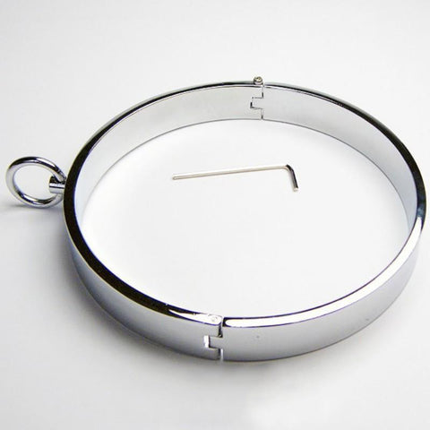 Infinity Band Collar, Polished Stainless Steel - Collar - BDSM Collar Store