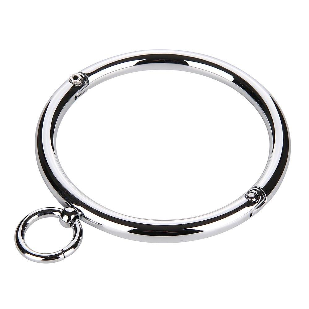Circle Collar, Polished Stainless Steel, Round Edges - Collar - BDSM Collar Store