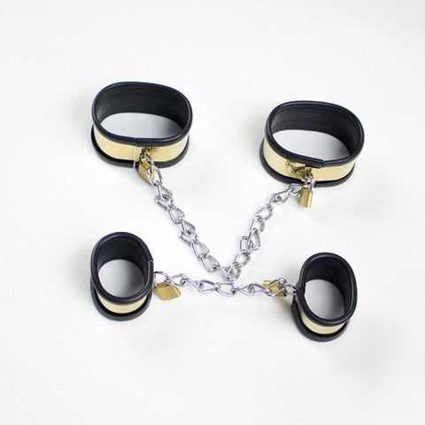 Titanium Collar and Cuffs, Silicone Lined, Locks Included - Cuffs - BDSM Collar Store