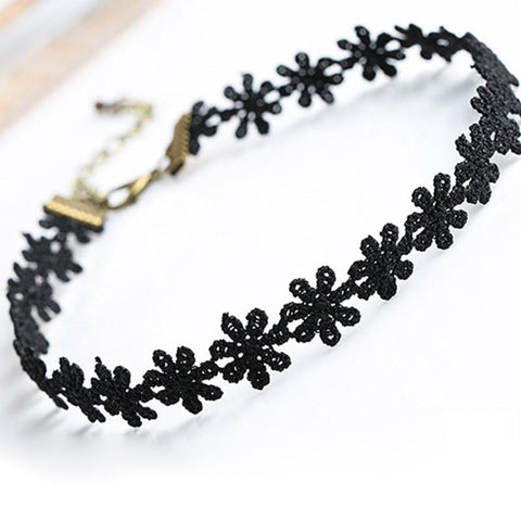 Image of Black Snowflake Lace Day Collar - Day Collar - BDSM Collar Store