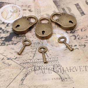 Vintage-Style Locks, Set of 3 - Accessories - BDSM Collar Store