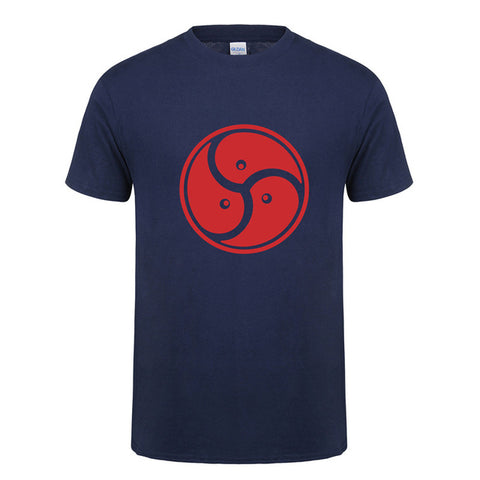 Unisex BDSM Logo Triskele T-Shirt, Black, Grey, White, Navy - Clothing - BDSM Collar Store