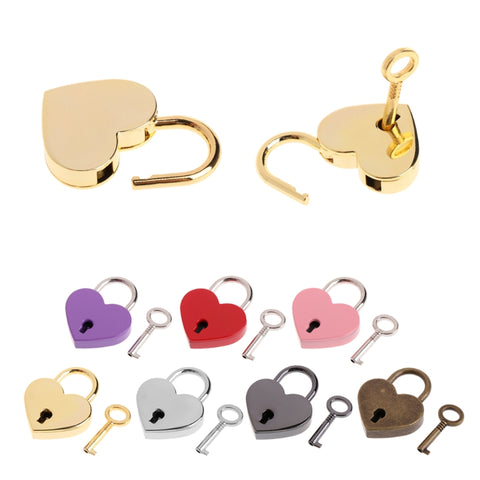 Heart Lock, 7 Colors Available - Accessories - BDSM Collar Store