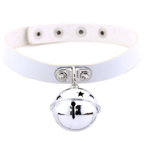 Large Bell Collar, 16 Colors, Vegan Leather - BDSM Collar Store