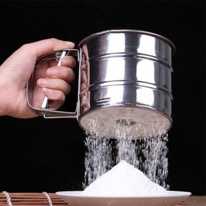 Stainless Steel Mesh Flour Sifter Cup Shaker Sieve Baking Tools