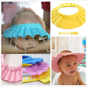 Soft & Adjustable Baby Shower Shield Cap for Shampoo Bath