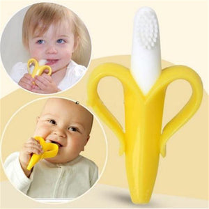 Baby Safe Silicone Toothbrush Kids Teether Chewing