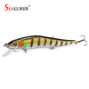1PCS/lot Fishing Lure Minnow Hard Bait with 3 Fishing Hooks
