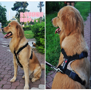 Large Dog Harness Collar Comfortable Nylon Vest Professional Dog Chest Straps