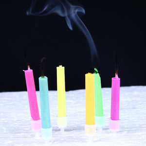 6Pcs Birthday Cake Candles Safe Flames Home Decorations