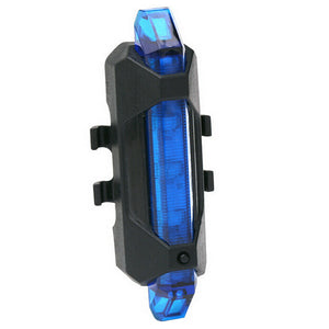 Portable USB Rechargeable Bicycle Tail Rear Warning Light