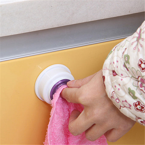1PCS Washing Cloth Hanger Rack Towel Holder Sucker Wall Tool