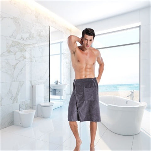 Man Wearable Bath Towel With Pocket for Beach