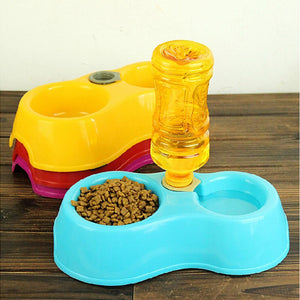 1pcs Dual Port Dog Automatic Water Dispenser Feeder Utensils