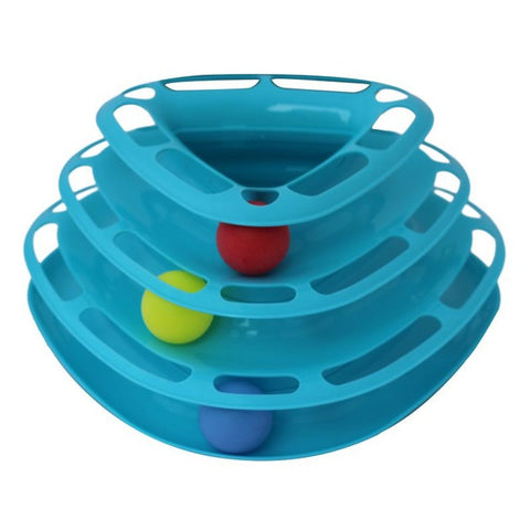 Cat Toys Intelligence Triple Play Disc Balls Pet