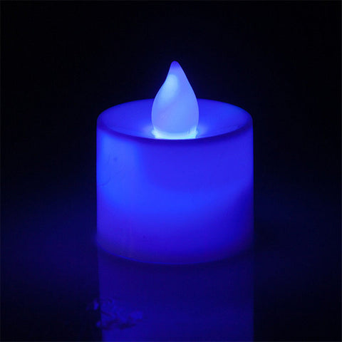 6pcs Battery Powered LED Candle Multicolor Lamp Simulation