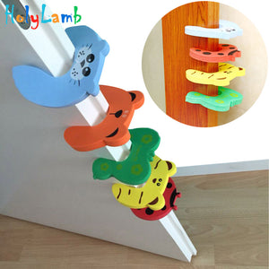 5Pcs/Lot Baby Protection by Cute Animal Security Card Door Stopper