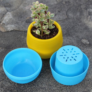 Mini Round Plastic Plant Flower Pot Garden Home