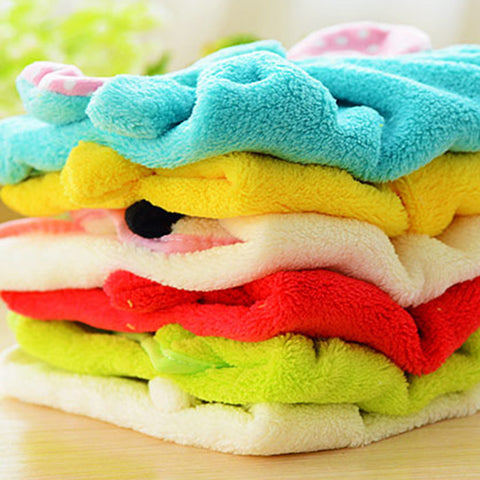 Candy Colors Soft Velvet Hanging Cartoon Animal Towels