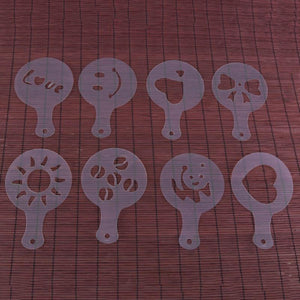 16pcs/set Plastic Coffee Stencil Latte Cappuccino Decorating Tools