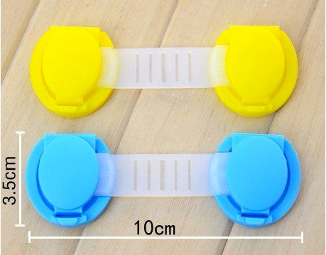 10Pcs/Lot Child Lock Protection Of Children Locking Doors Kids Plastic Lock