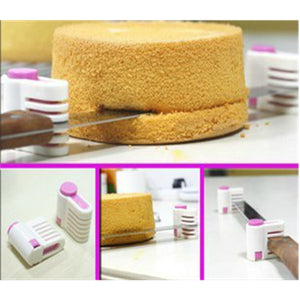 2PCS Kitchen DIY Cake Bread Cutter Leveler 5 Layers