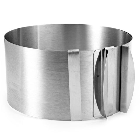 Retractable Stainless Steel Circle Mousse Ring Dishes